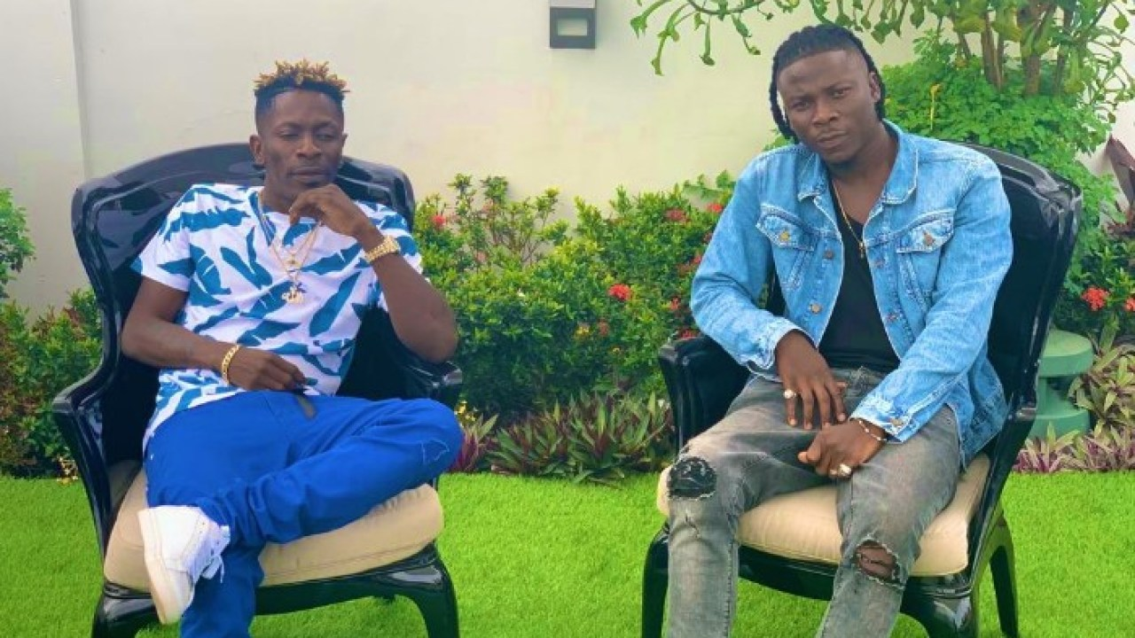 Shatta wale and stonebwoy turn co commentators during ghana