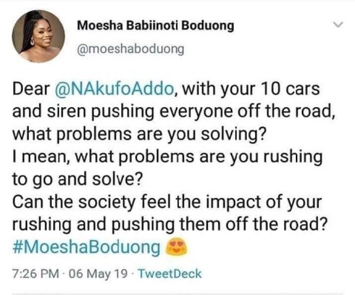 moesha fake twitter - Moesha Clears The Air; She Says She Has Never Been On Twitter And Never Took A Swipe President Nana Addo