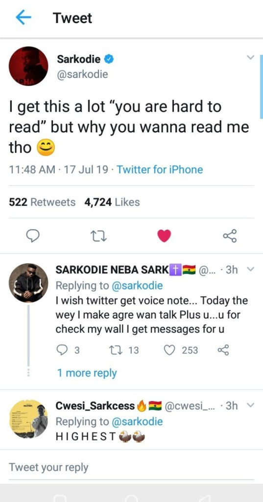 Sarkodie screenshot - Sarkodie Worried – Says He Doesn't Like People Thinking For Him