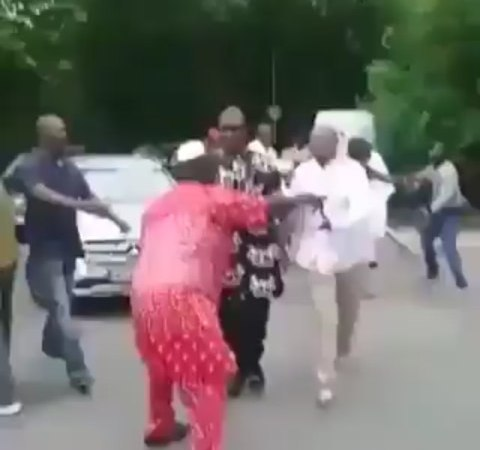 VIDEO: Nigerian Senator Seeking Medical Help In Germany Allegedly Mobbed By Nigerians And Asked To Return And Seek Medical Help In Nigeria