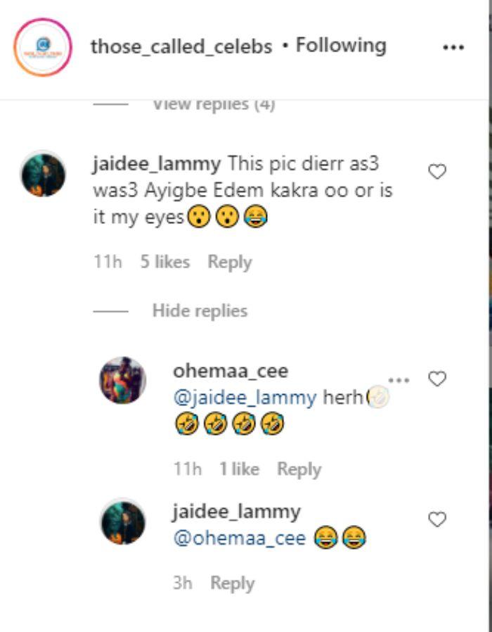 edem 1 - Netizens Troll Afia Schwar For Mocking Prof. Jane over her hair & make-ups on GHOne TV