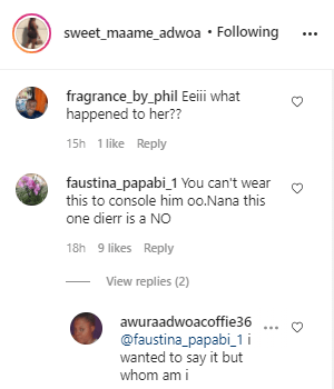 """""""You can't wear this to someone's funeral""""- fans blast Mcbrown after she wore this to Eddie Nartey's wife memorial service 2"""