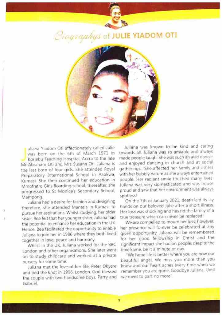 Becca Disrespectfully Didn't Attend Her Mother's Burial And Family Did Not Mention Her in Mother's Biography At All- CHRIS-VINCENT Writes 4