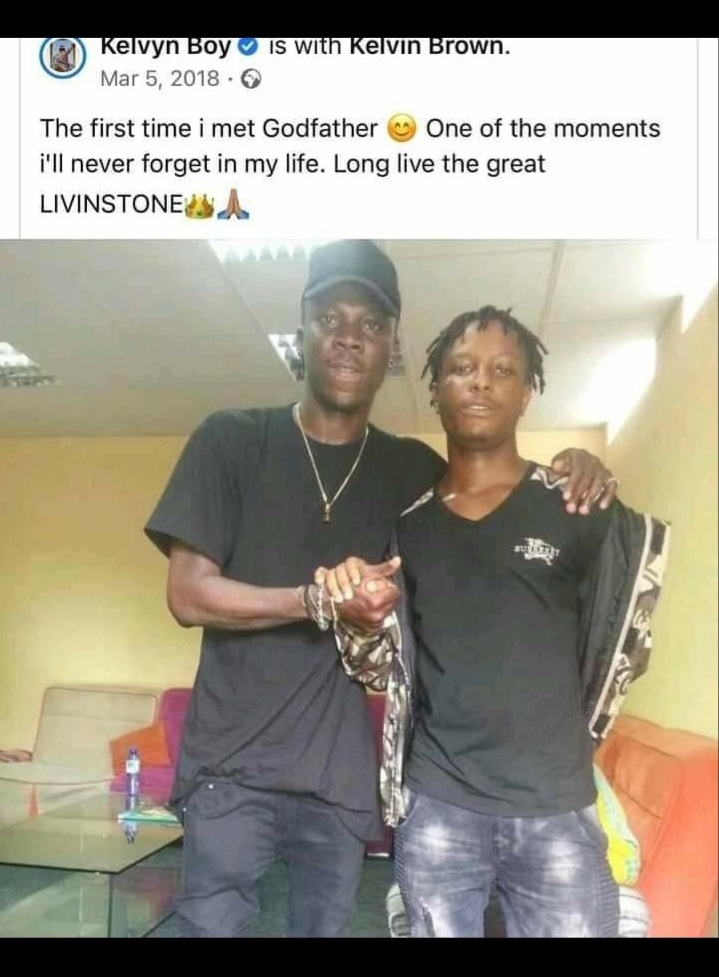 Throwback Photo Of When Kelvyn Boy Met Stonebwoy For The First Time. 4