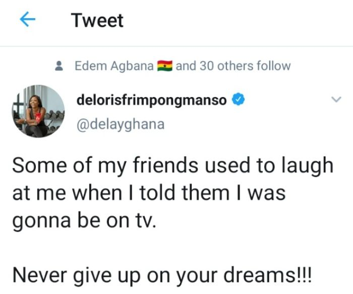 If you're thinking of giving up, read this motivational message from Delay. 3