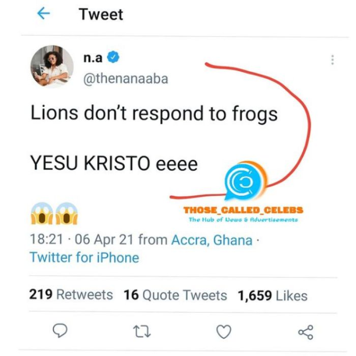 Yesu Kristo Eee – Nana Aba Anamoah Reacts After Sonnie Badu Called Ghanaians Frogs. 4
