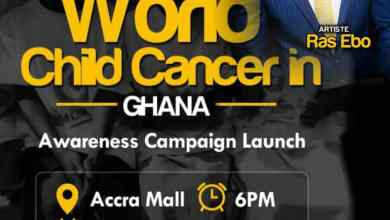 Photo of Ras Ebo to represent Western Region at the World Child Cancer Launch