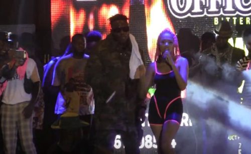 Medikal and Sister Deborah reunited at 'Welcome to Sowutuom Concert'