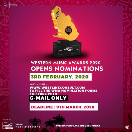 Westline Entertainment opens nominations for 4th edition of Western Music Awards 3rd Feb, 2020 2