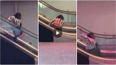 Photo of Video Of How A Lady Embarrassed Herself While Using Mall Escalator