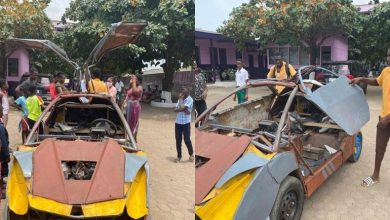 Photo of Watch How A JHS graduate In Ghana Builds own Bugatti-like car (Video Here)