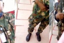 Photo of Flogging Lady At ATM Stand Puts Nigerian Soldier In Trouble – Video Below