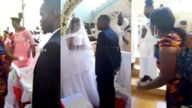 Photo of Husband's Wedding Scattered By His Pregnant Wife As She Storms The Place – Video