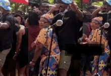 Photo of Joey B Seen On Camera Chopping The Nyash Of Old Woman As They Dances