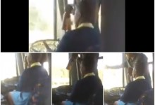 Photo of School Girl Takes The Wheel To Drive When Bus Driver Soaks Alcohol – Video