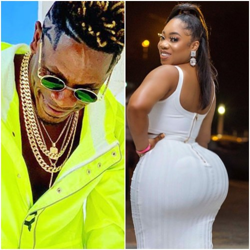 See What Shatta Wale Did To Moesha Boduong At His Birthday Party (Video)
