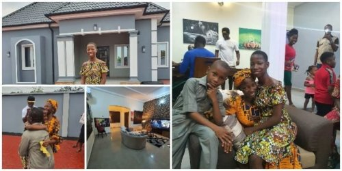 Comedian Emmanuella Who Is 10 Year Old Builds New House For Mother - Video Below
