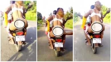 Lady Rides A Motor Bike With No Panty - Video Will Shock u