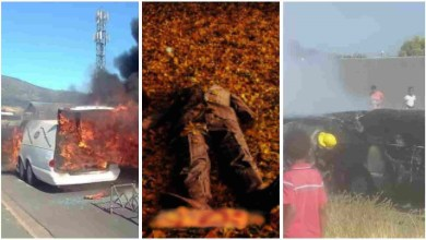 Photo of Vehicle Transporting corpse catches fire But Dead Body Remains Unburnt – Video
