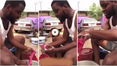 Photo of Boyfriend Faints When Girlfriend Captured Him Washing Panties – Video Will Shock U