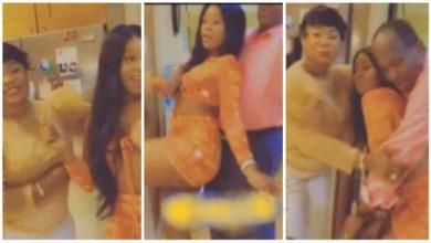 Efia Odo's Mother Orders Man - Stop Grinding My Daughter - Watch Video