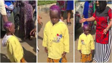 Photo of 6-year-old girl scalp decays after her aunt reportedly poured kerosene on her head – Watch