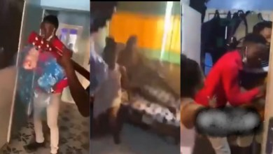 Photo of Guy Catches Girlfriend In B3d With Another Man When He Visited Her With Val's Day Gift – Video