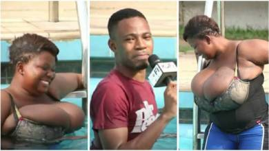 Kofi Adoma Trends Online By Lifting Hug Breast Of A Lady In A Swimming Pool - Video
