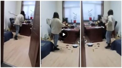 Photo of Lady Slap And Flogs Boss With Mop Stick After He Sent Her s£xual Messages – Video Below