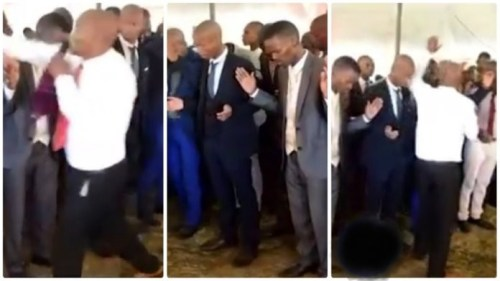 Man Of God Seen Slapping Church Members In The Name Of Deliverance - Video Below