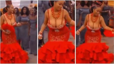 Photo of Bride With Big Boobs Give Raw Free Show During Wedding Celebration – Video