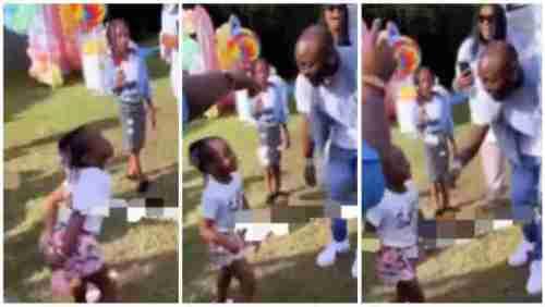Davido Beat Daughter, Hailey 4 Trying 2 Twerk @ Her Birthday Party - Video Below
