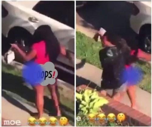 Boy N Girlfriend Were Disgraced After Being Seen Eating Demselves Outside - Video