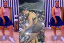 Fans Play With Female Artiste Privαtє Part During Stage Performance - Video