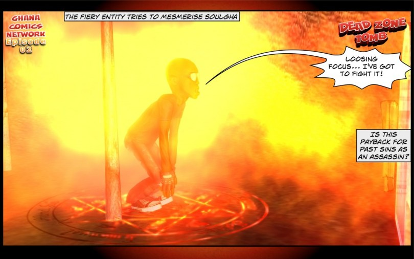 The fiery entity tries to mesmerise Soulgha