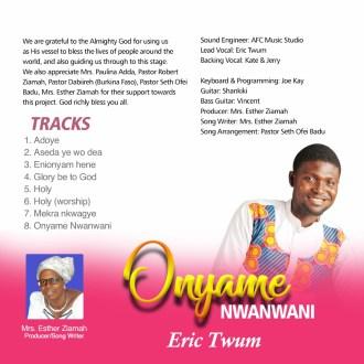 Eric Twum – Adoye (Prod. By Mrs. Esther Ziamah)(www.GhanaMix.com)