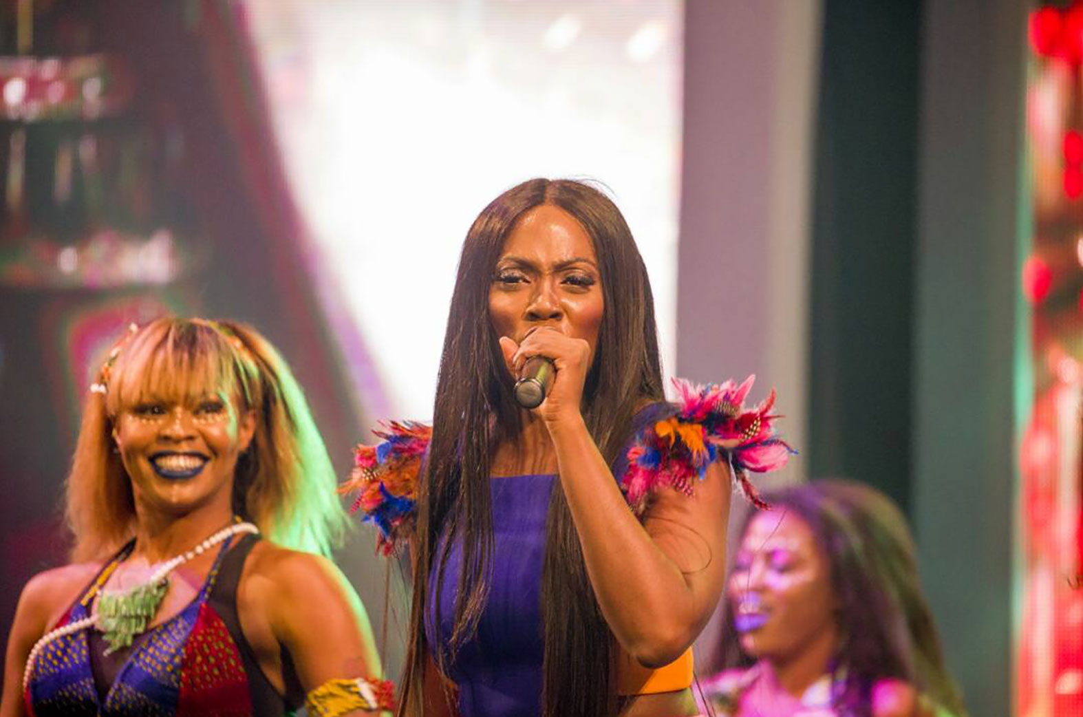 Tiwa Savage performing at Ghana Meets Naija 2017
