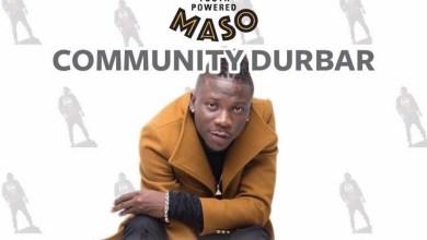 Photo of MASO Brand Ambassador, Stonebwoy, to interact with cocoa farmers