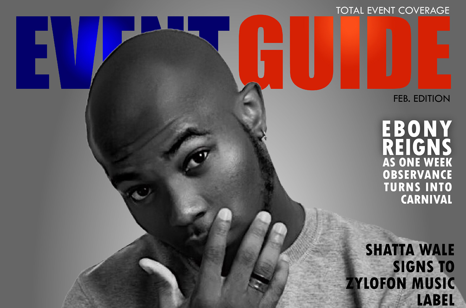 King Promise covers EVENTGUIDE February Edition | Ghana