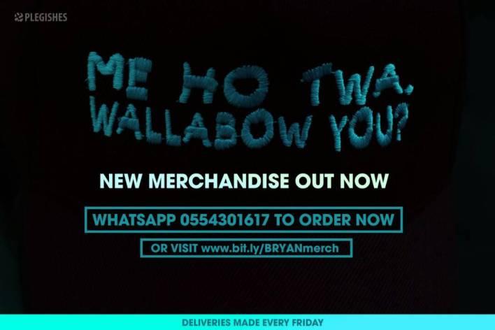 BRYAN THE MENSAH puts new merchandise on sale
