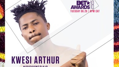 Kwesi Arthur gets 2018 BET Awards nomination