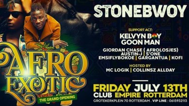 Photo of Rotterdam to host Stonebwoy's 5th Europe Tour on 13th July