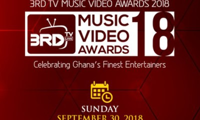 3RD TV Music Video Awards comes off on 30th September 2018