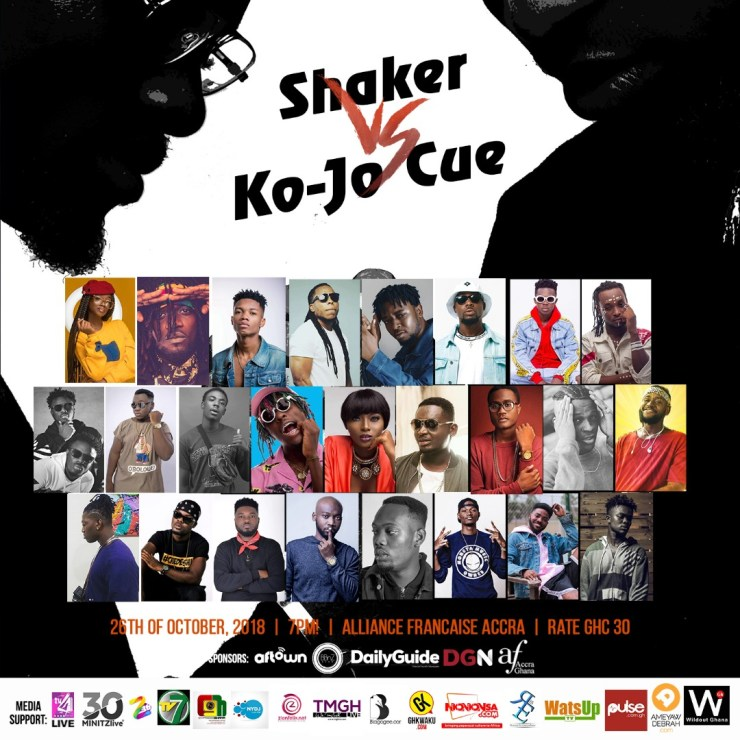 Shaker vs Ko-Jo Cue concert to feature Edem, Teephlow & more