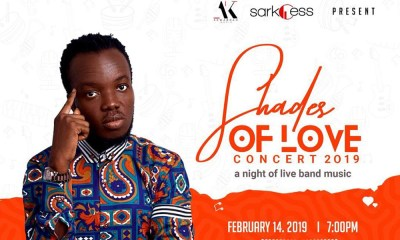 Akwaboah books Valentine's day for 2019 'Shades of Love' concert