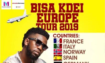 Bisa Kdei kicks off 2019 Europe Tour in March