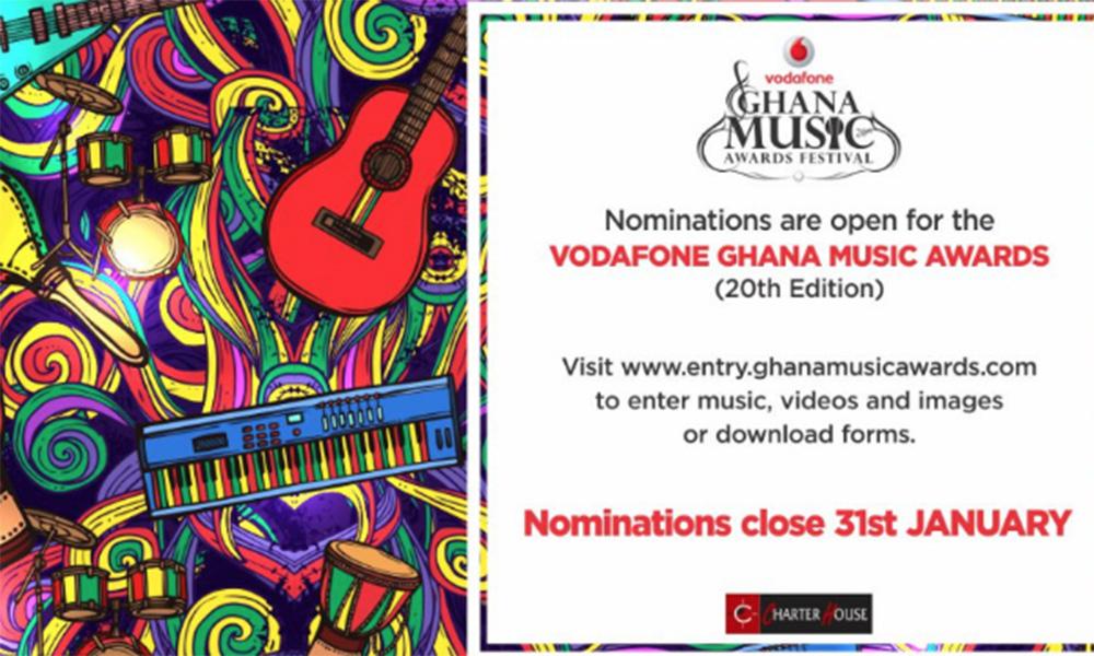 Nominations open for 2019 Vodafone Ghana Music Awards