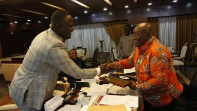 Photo of Cwesi Oteng gifts special copy of Anthems album to President