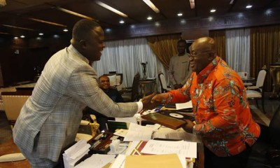 Cwesi Oteng gifts special copy of Anthems album to President