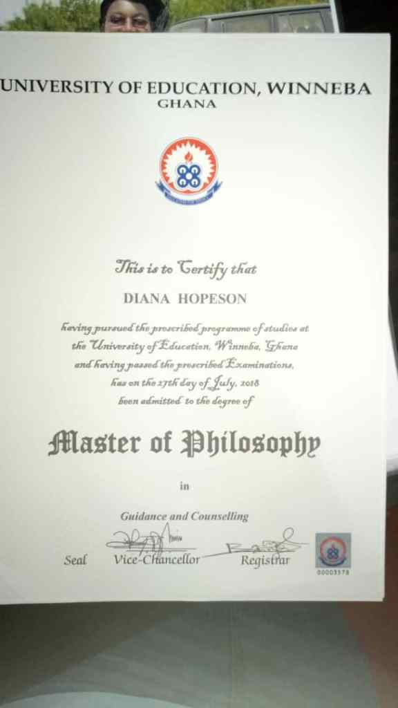Diana Hopeson graduates with Master's Degree in Philosophy